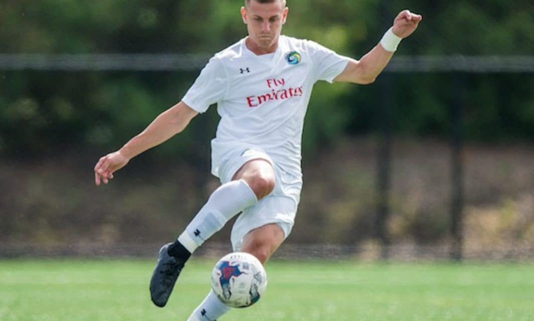 MOVING ON UP: Cosmos B player McTurk signs with full team