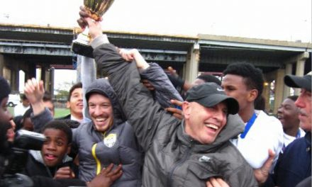 AN INSPIRATIONAL SPEECH: An emotional one by MLK H.S. coach Jacobson at NYC FC Soccer Gala