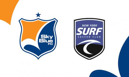HOWDY, PARTNER: Sky Blue and New York Surf SC get together