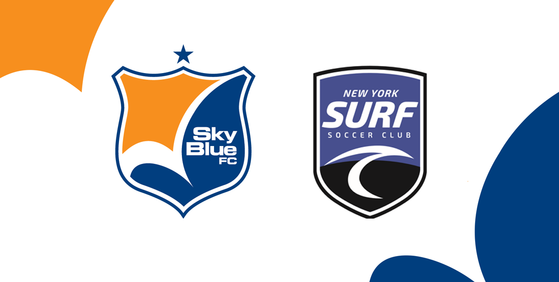 HOWDY, PARTNER: Sky Blue and New York Surf SC get together