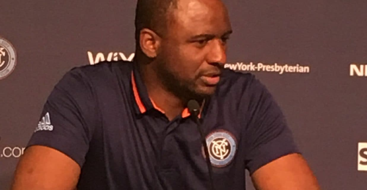 STICKING TO THE PLAN: Vieira encouraged that NYC FC hasn't veered away from his tactics