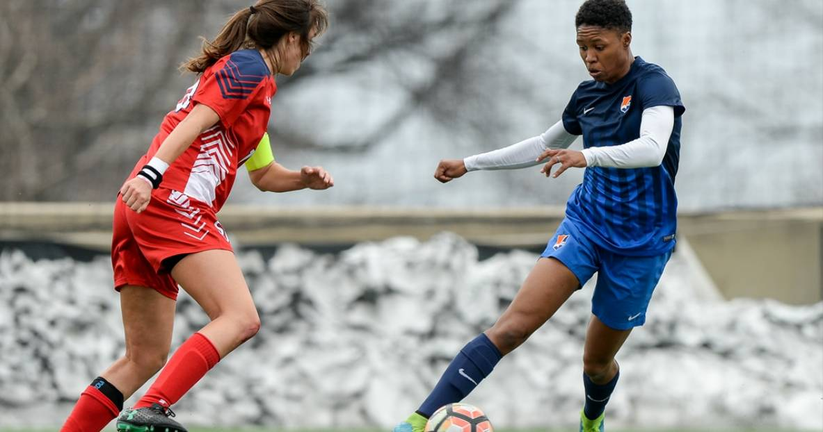 FIRST-HALF RALLY: Sky Blue stops St. John's women in preseason opener