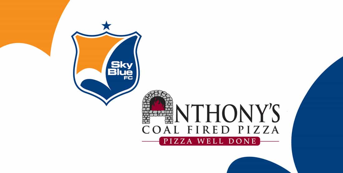 WORKING TOGETHER: Sky Blue partners with Anthony's Coal Fired Pizza
