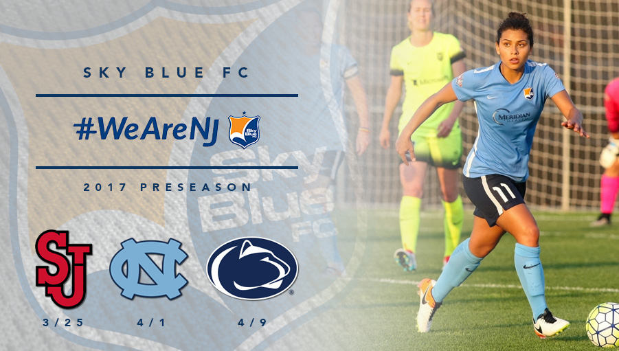 PRESEASON SLATE: Sky Blue to play St. John's, North Carolina, Penn State