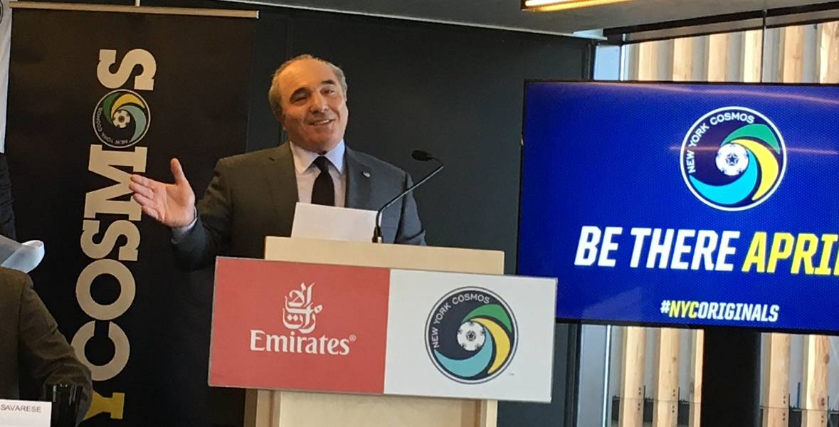 YET ANOTHER LIFELINE: Commisso will pay salaries of Cosmos staff, some players through February