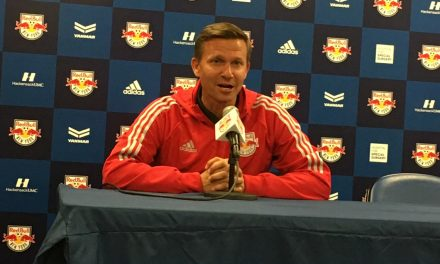 LIKING WHAT HE SEES: Marsch talks about Red Bulls' triumph