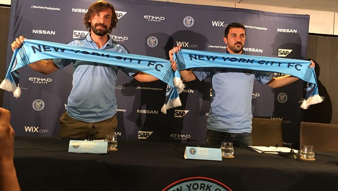 ABSENT FROM THE STARTING XI: Villa (illness), Pirlo (on bench) for NYCFC