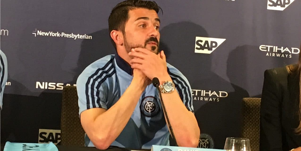 MEET THE PRESS: Villa talks to media in presser