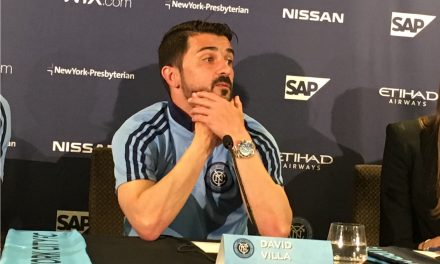 HONORING DAVID: NYCFC will celebrate Villa's 400th goal Saturday