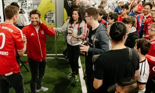 AN EYE-OPENER IN SO MANY WAYS: Lizarazu, with 300 fans, enjoys atmosphere in Queens as his ex-club Bayern wins the Klassiker