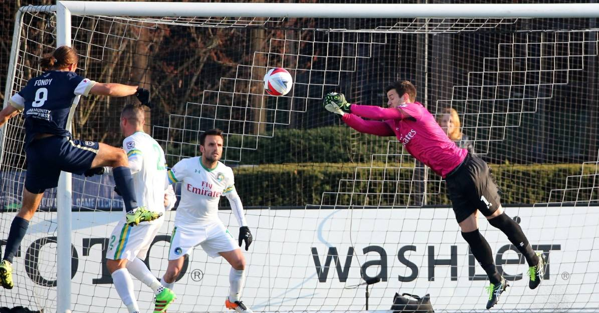 MAGNIFICENT MAUER: Goalkeeper's stellar performance keys Cosmos' 2-0 victory over Miami