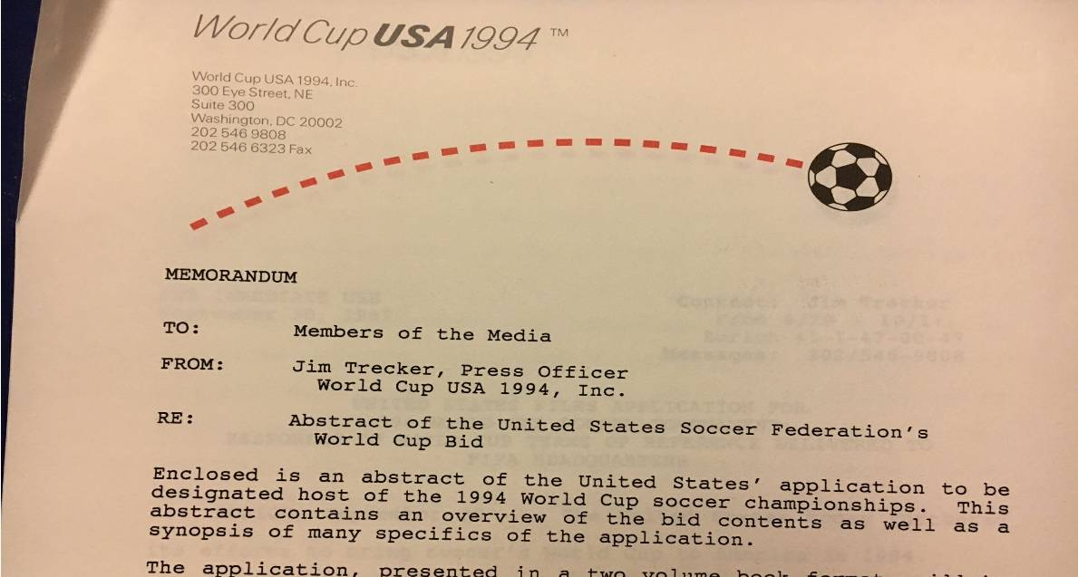 IF YOU DON'T SUCCEED: U.S. tried again for the 1994 World Cup