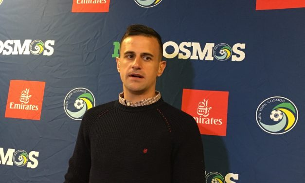 ONE HAPPY CAMPER: Marquez is happy to be with Cosmos, as they are with him