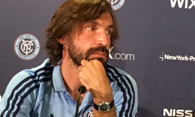 IN AWE: Pirlo: 'It's one of the best goals I've seen'