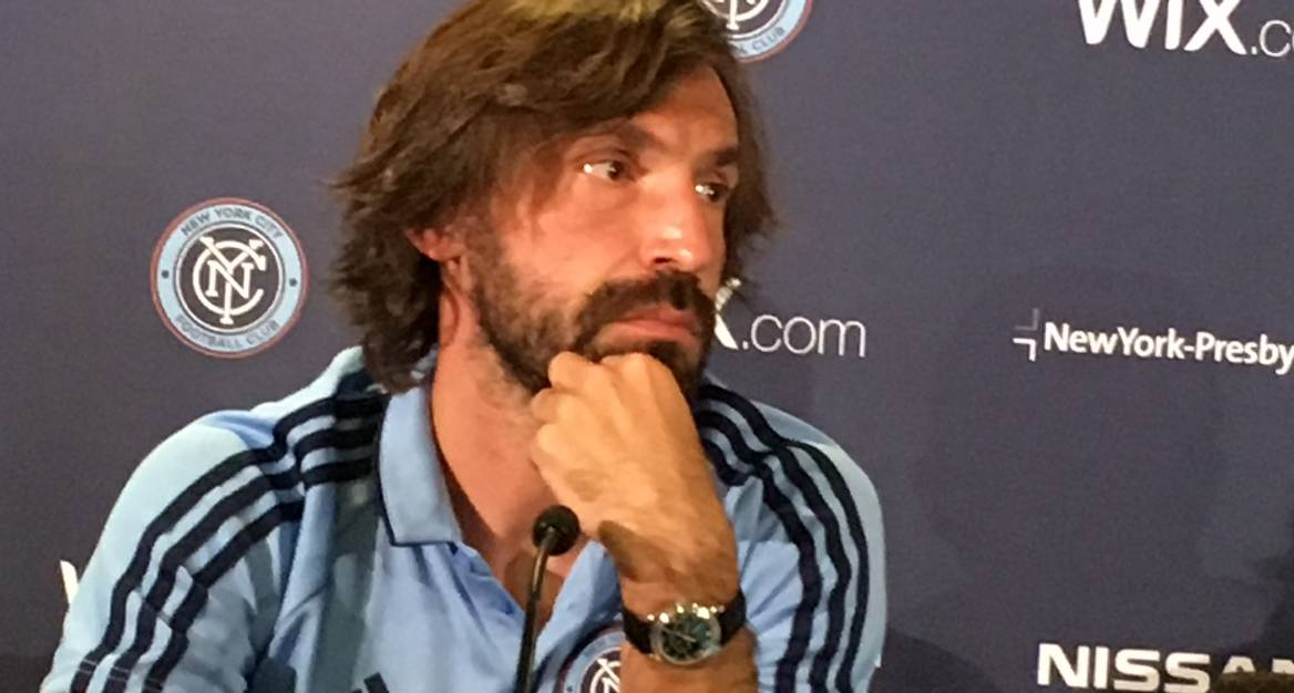ONE LAST TIME: Pirlo comes on as a 90th-minute substitute