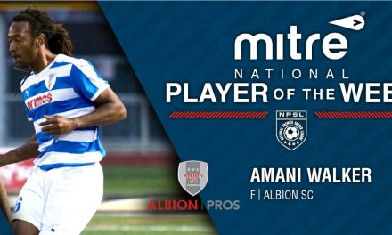 HAT'S OFF: Albion's Walker named NPSL player of the week