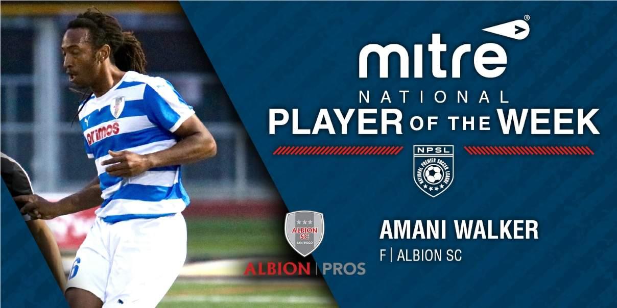 HAT'S OFF: Albion's Walker named NPSL player of the week