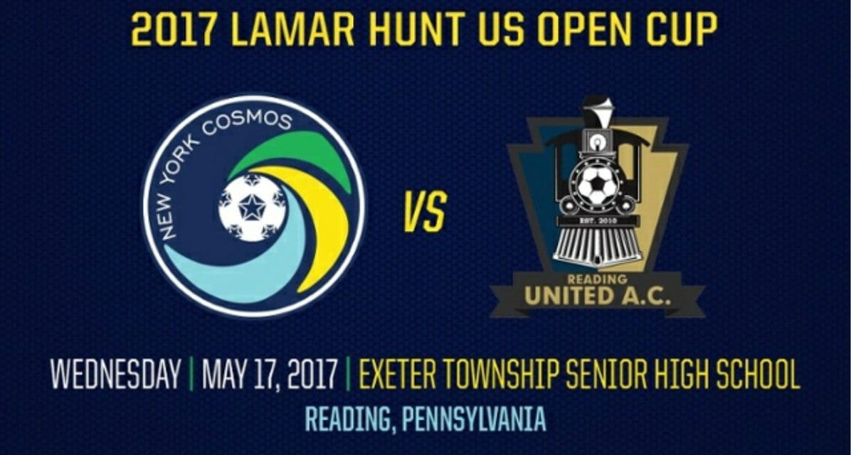ROAD TRIP: Cosmos to start Open Cup at Reading next Wednesday