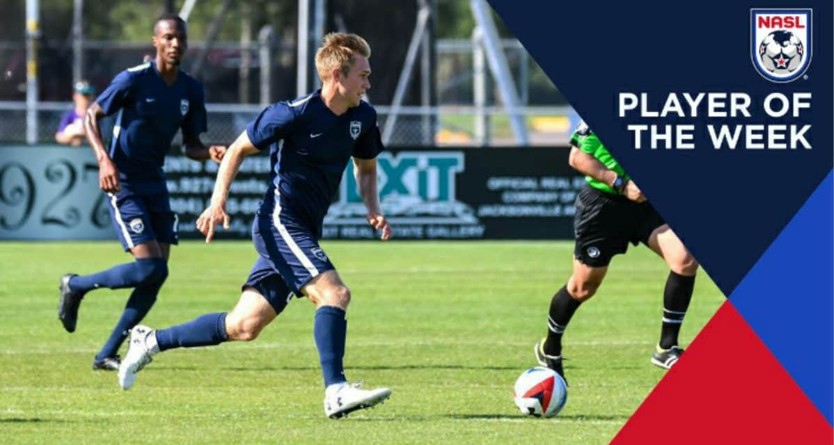 BACK TO BACK: Armada's Steinberger NASL player of the week again