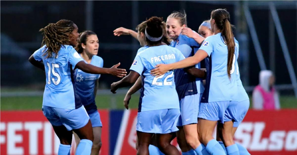 BETTER LATE THAN NEVER: Rodriguez's late goal lifts Sky Blue FC over KC in home opener
