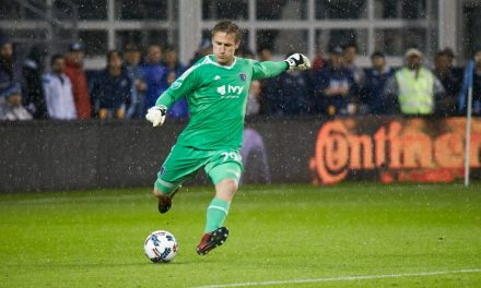 A SAVING GRACE: East Islip's Melia makes a vital stop in KC's win over Red Bulls