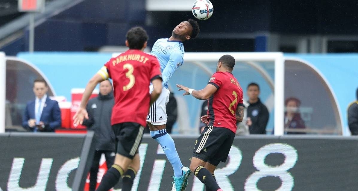 NEVER GIVE UP: After Atlanta makes 3 goal-line clearances on him, Wallace strikes for game-winner, assists on insurance goal for NYCFC