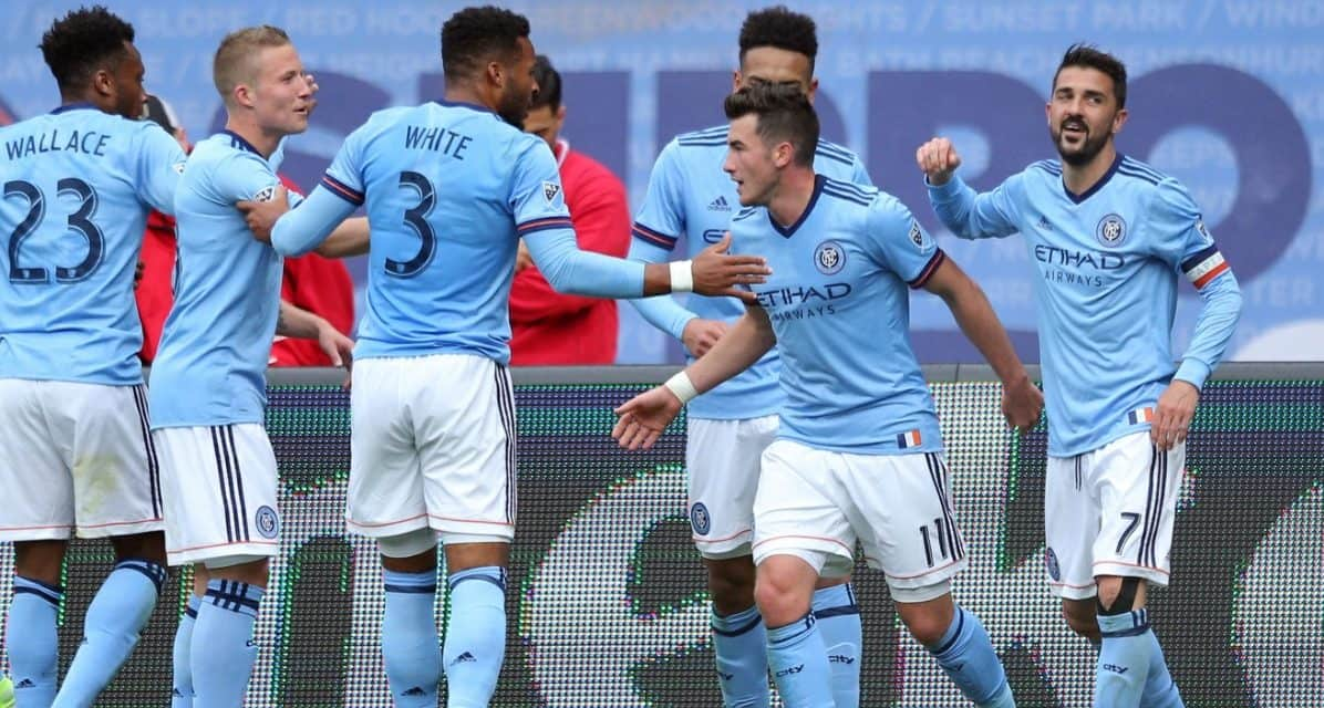 TURNING A GAME ON ITS HEAD: Within a minute, NYCFC transforms a tie into a 3-1 win