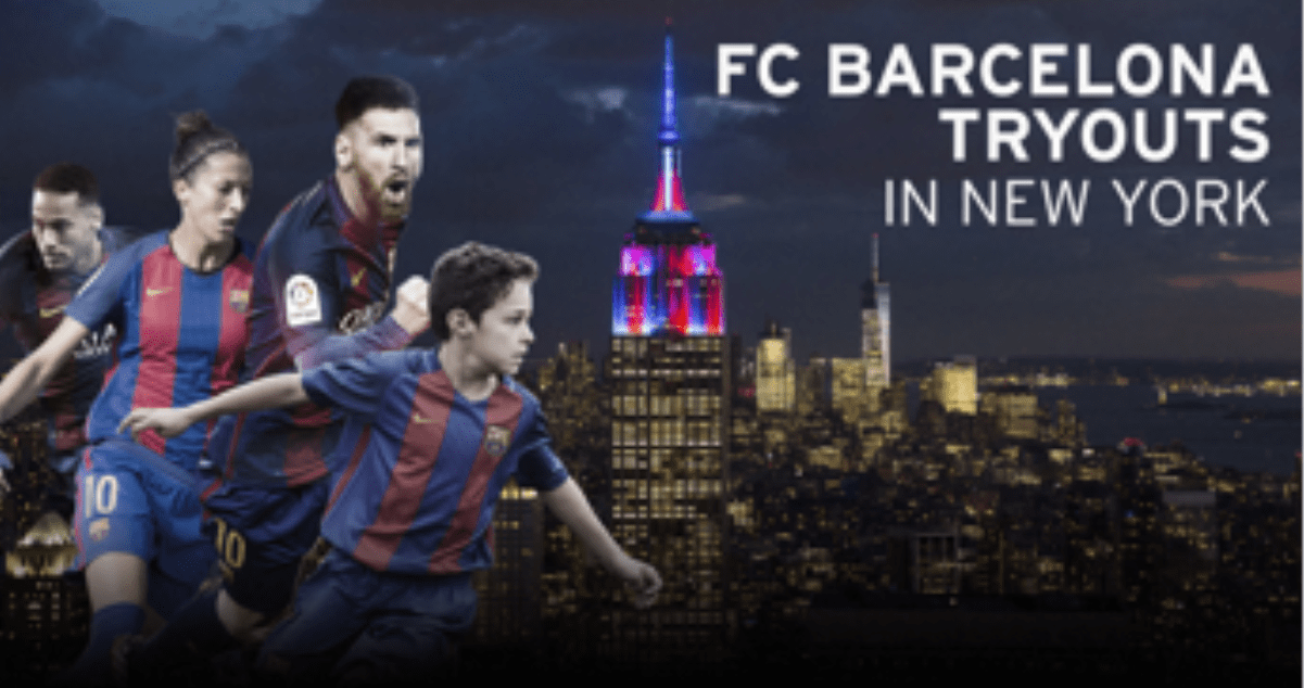LONG ISLAND BOUND: Barcelona to establish youth soccer academy, tryouts start Monday