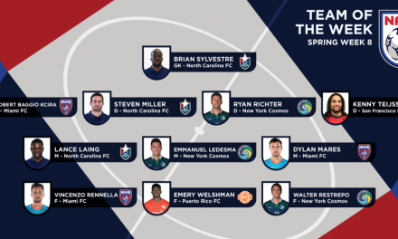 LEAGUE HONORS: Cosmos' Ledesma, Richter, Restrepo on NASL team of the week