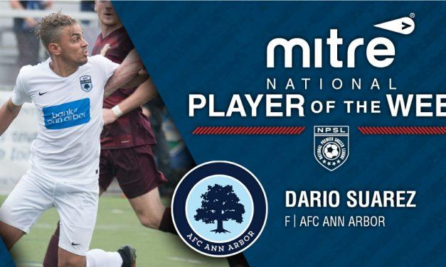 SUPER DARIO: Ann Arbor's Suarez named NPSL player of the week
