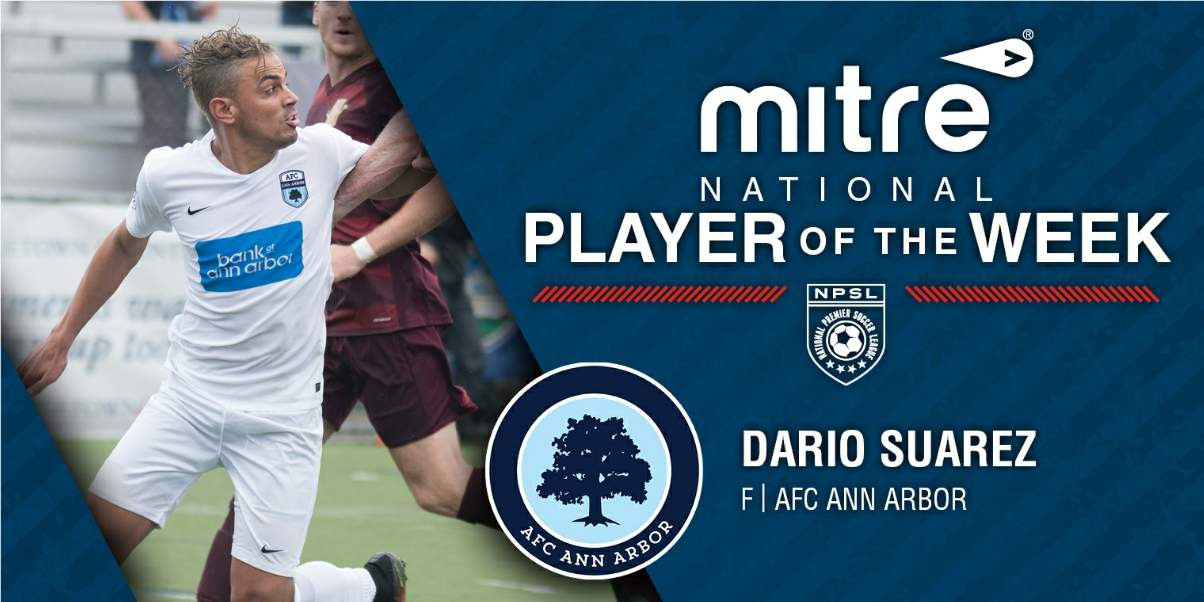 SUPER DARIO: Ann Arbor's Suarez named NPSL player of the week