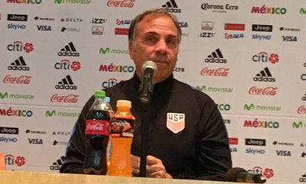 MEETING THE PRESS — AGAIN: Arena takes on questions prior to the WCQ vs. Costa Rica