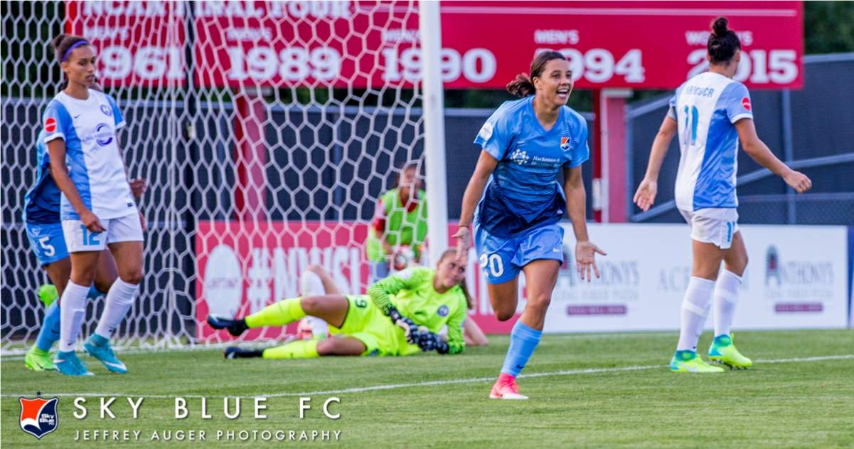 THE DOUBLE: Sky Blue FC's Kerr earns goal, player of the week honors