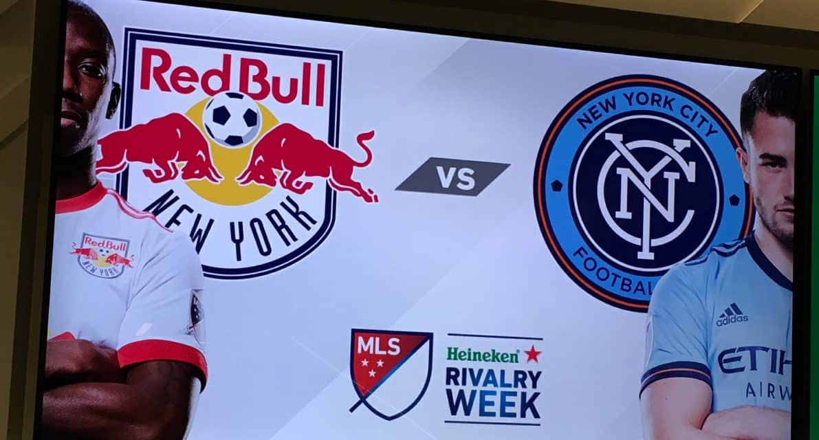 OFFSIDE REMARKS: Playing a game of word association not association football prior to the Hudson River Derby