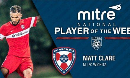 WELCOME, MATT: NPSL names FC Wichita's Clare player of the week