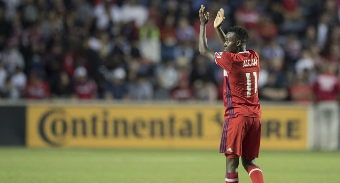 SOME ACCLAIM FOR ACCAM: Fire forward named MLS player of the week