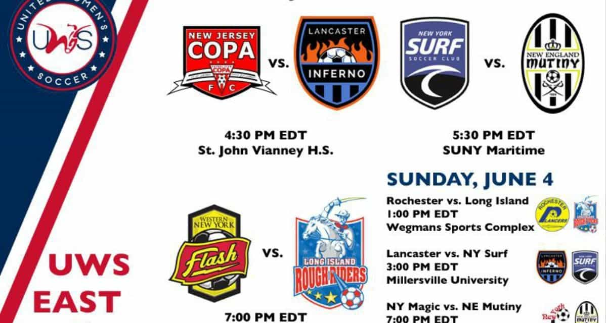 UWS THIS WEEKEND: NJ Copa FC, NY Surf, Rough Riders, Magic, Rochester Lancers are in action