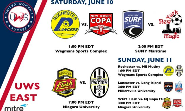 ANOTHER BUSY UWS WEEKEND: For Lady Lancers, NJ Copa FC, NY Surf, NY Magic, LI Rough Riders, Lancaster