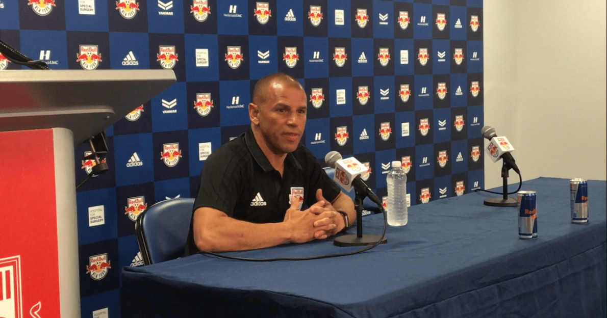 MEET THE PRESS: Armas talks to the media about Red Bulls' loss