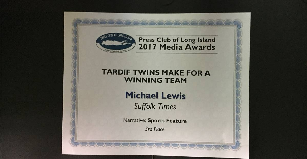 THIRD PLACE: Front Row Soccer editor honored by PCLI
