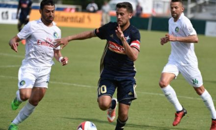 HE'S THE JUAN: Guerra's goal lifts Cosmos to win, into tie for 2nd place