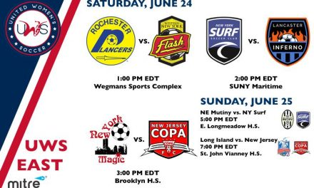 UWS PREVIEW: Lady Lancers, Surf, Lancaster, Magic, NJ Copa FC, Rough Riders in action