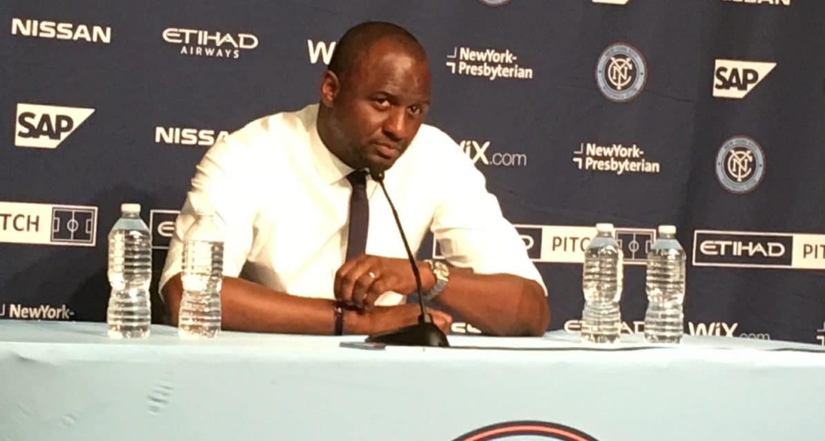 STAYING PUT: Vieira says he isn't leaving NYCFC