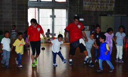 TEACHING THE GAME: BAYSL holds Spanish Harlem clinic