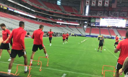 UP CLOSE AND PERSONAL: With Canada's national team in practice
