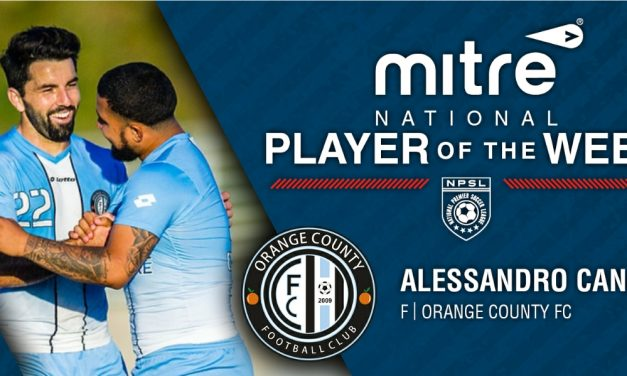 NPSL PLAYER OF THE WEEK: Orange County FC forward Canale (5 goals, 3 assists, 1 game)