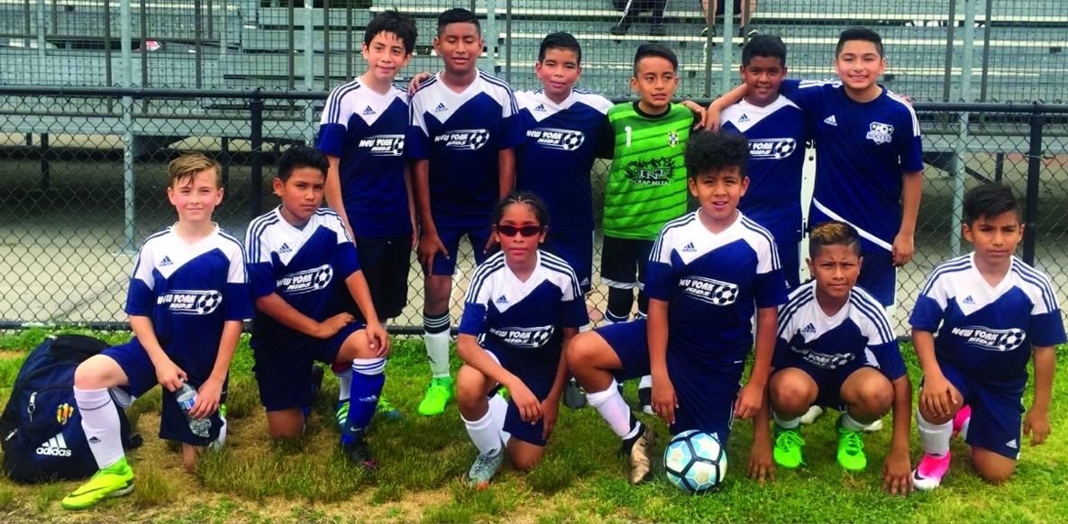 THEY'RE NOT KIDDING: New York Kids wear ENYPSL U-12 Boys crown