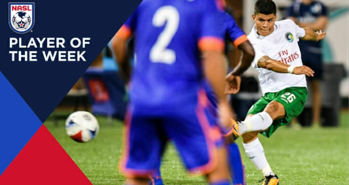 A REWARDING TIME: Cosmos' Calvillo named NASL player of the week
