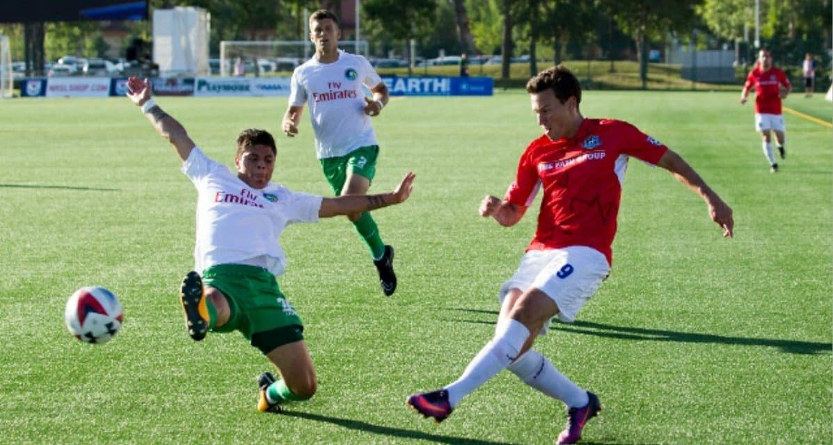 ENDING ON A HIGH NOTE: Calvillo's 1st goal of the season gives Cosmos 1-0 win