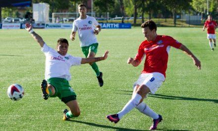 ENDING ON A HIGH NOTE: Calvillo's 1st goal of the season gives Cosmos 1-0 win